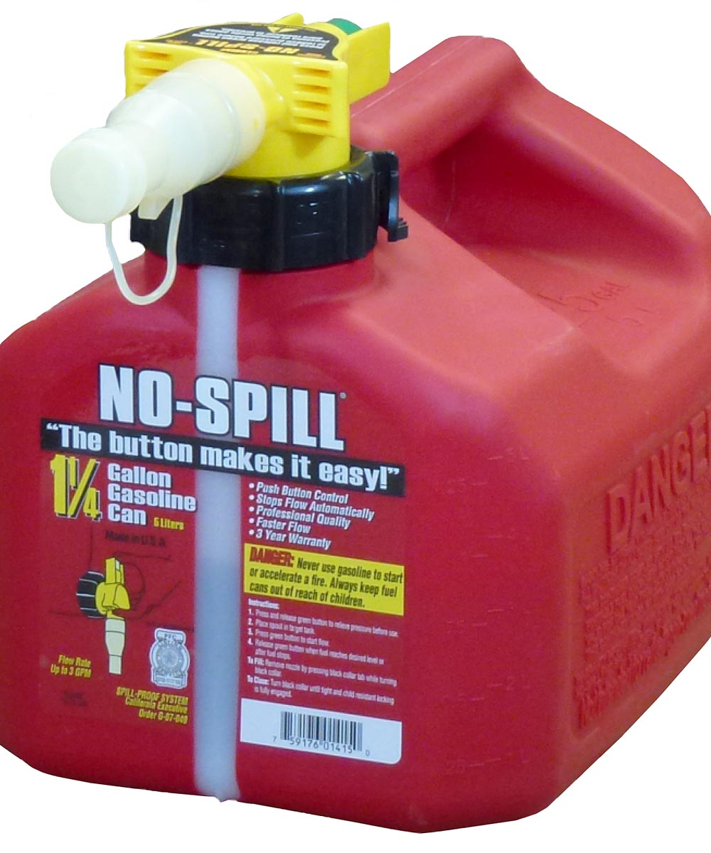 1-1/4 Gallon Red Poly Gas Can
