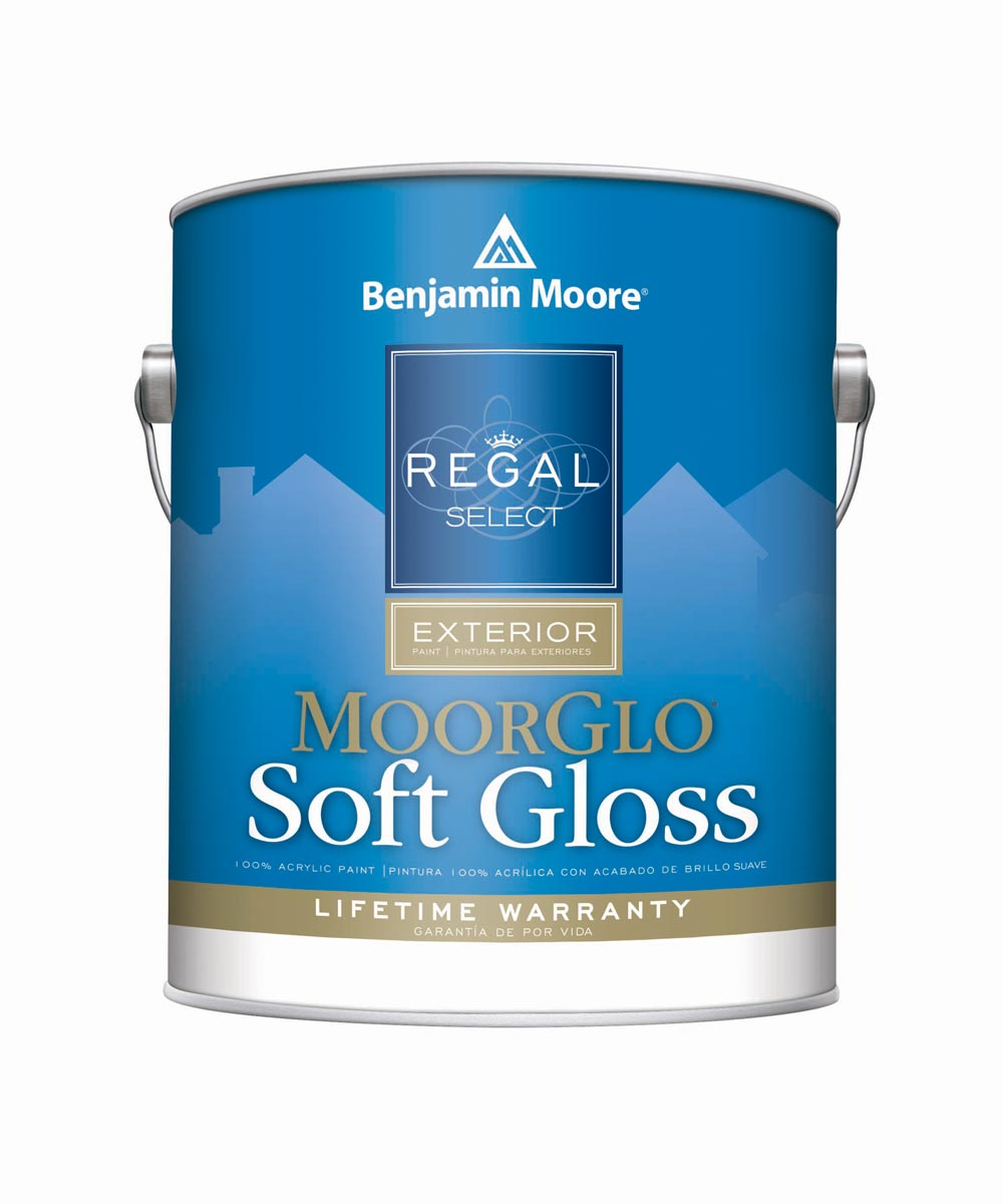 1 Gallon Regal Select Exterior MoorGlo Soft Gloss White Paint