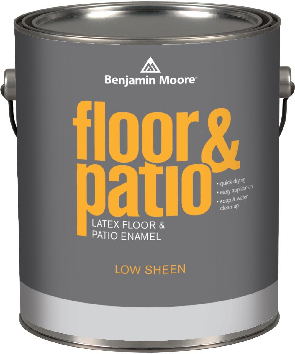 1 Gallon Floor and Patio Latex Enamel  Paint Low Sheen Dark Gray