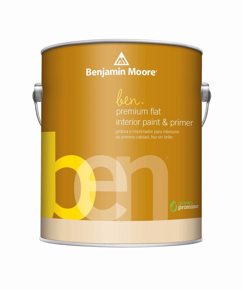 1 Quart Ben Waterborne Interior Flat White Paint