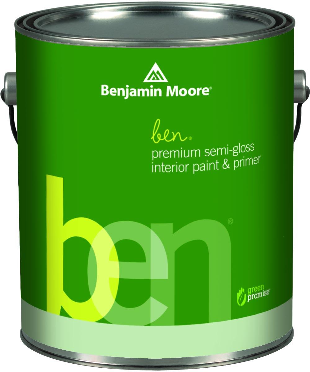 1 Quart Ben Waterborne Interior Semi-Gloss White Paint