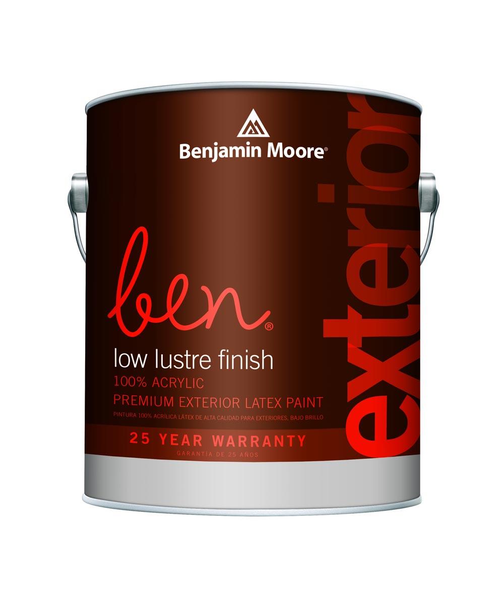 1 Gallon Ben Waterborne Exterior Low Lustre White Paint