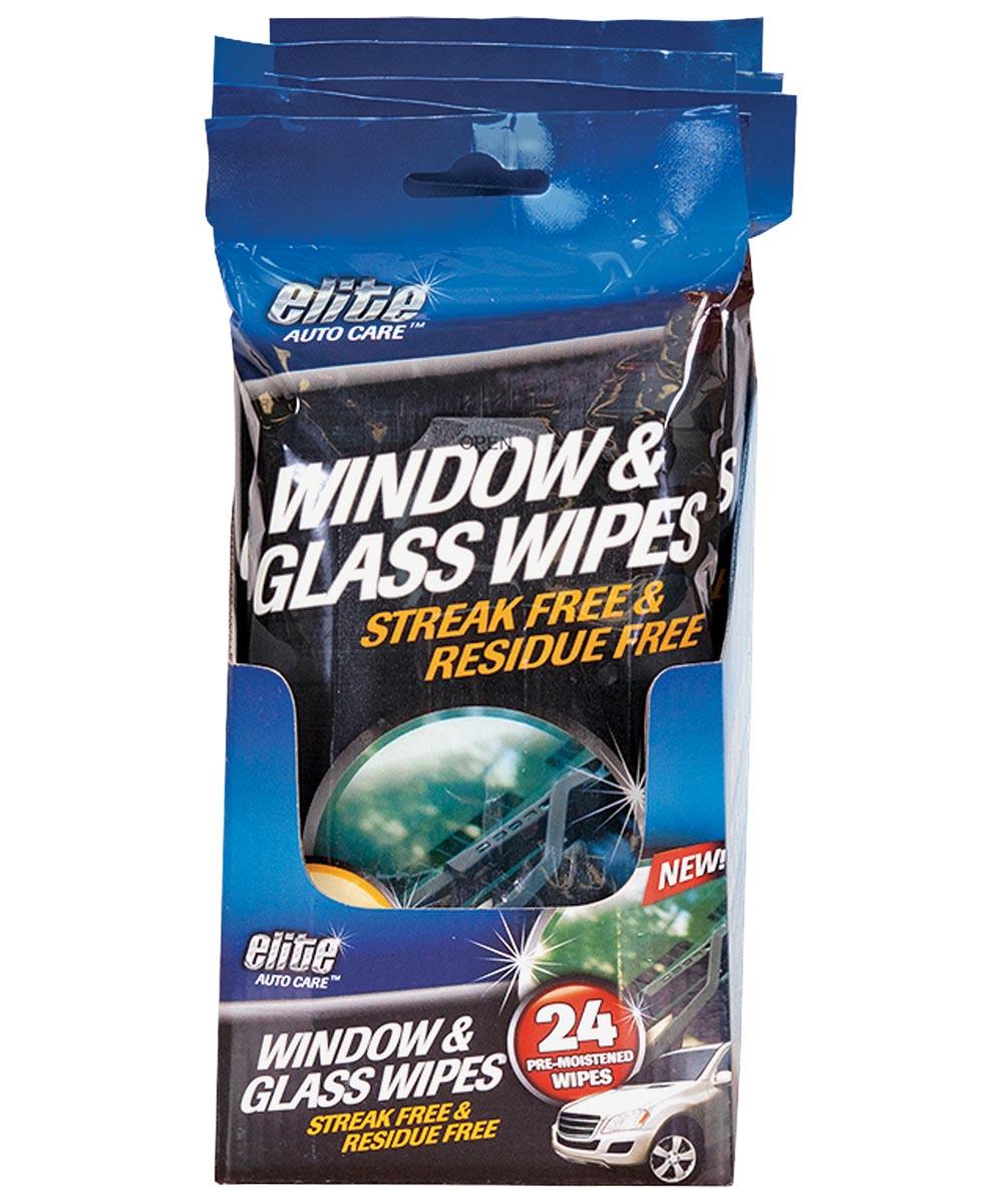 Pre-Moistened Window and Glass Wipe