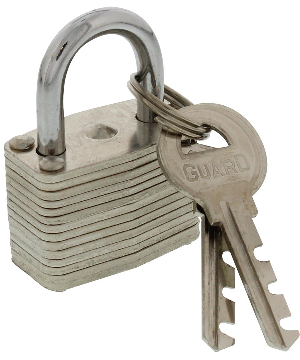 Guard Security Warded Laminated Padlock with 1-1/4 in. Standard Shackle