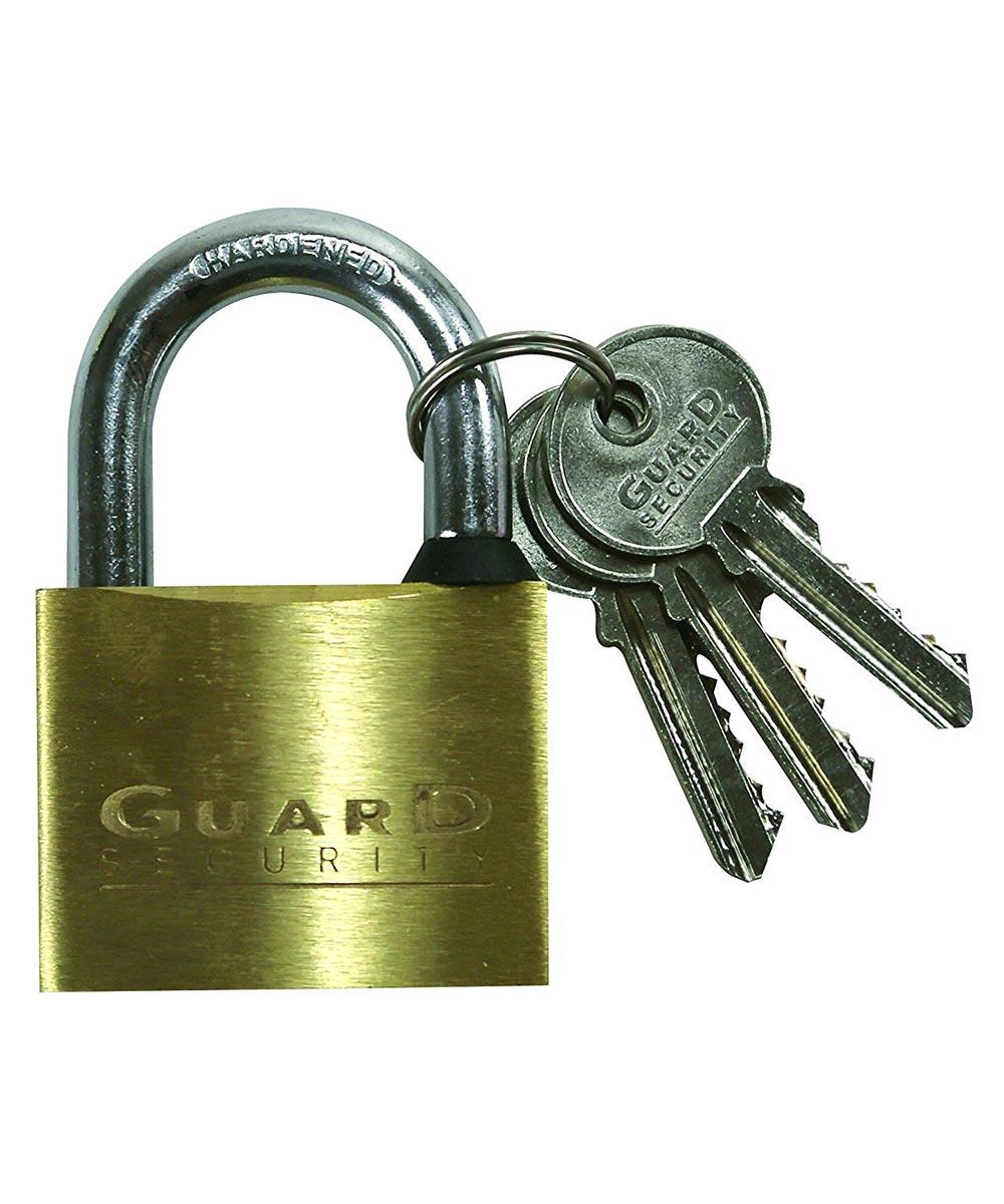 1-1/4 in. Brass Key Padlock