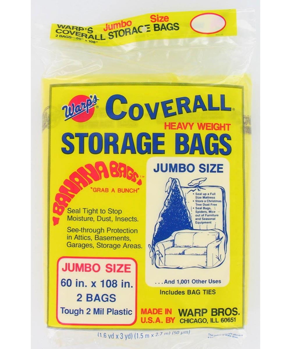 60 in. x 108 in. Jumbo Storage Bags, 2 Pack