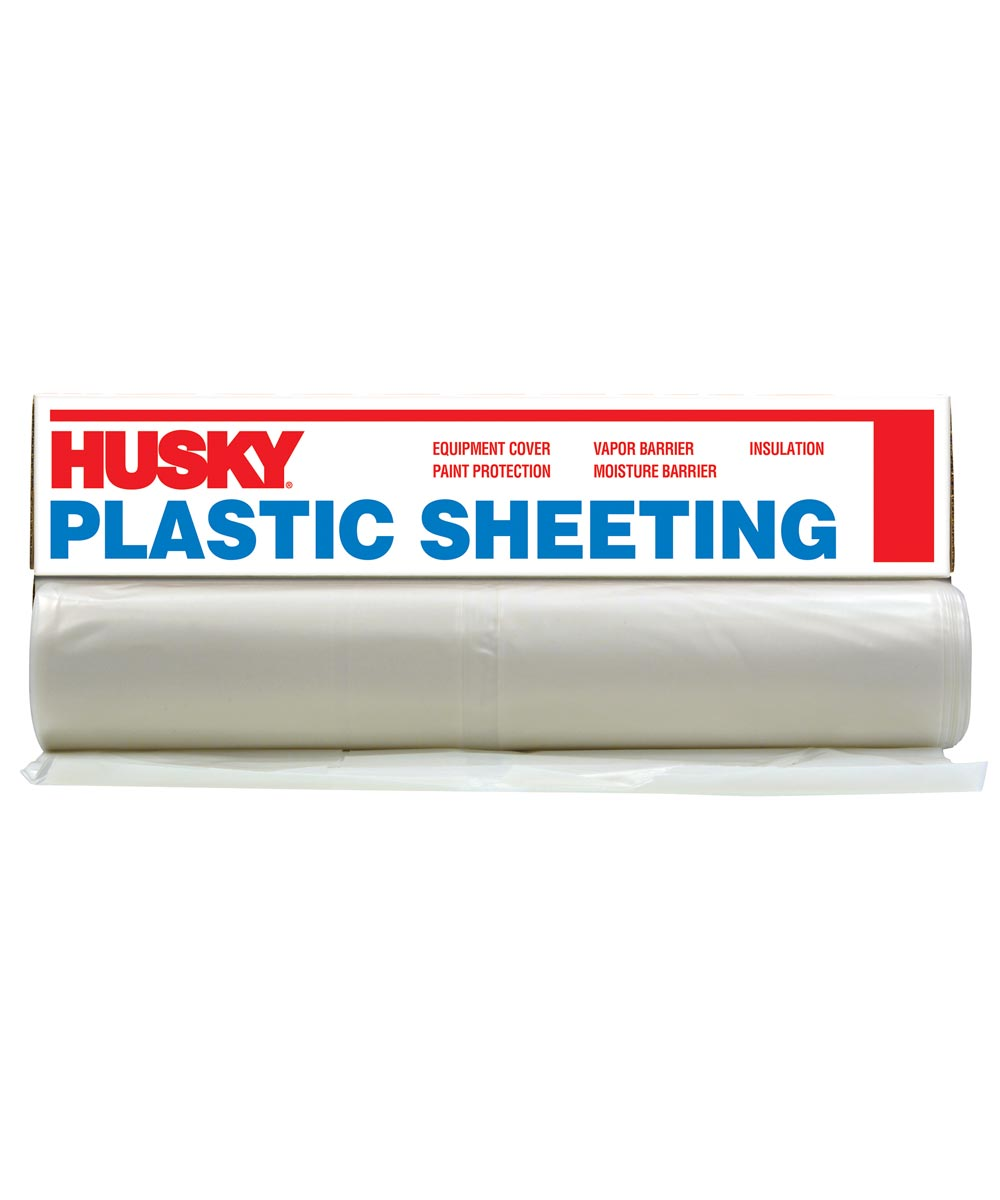 10 ft. x 100 ft. Clear Plastic Sheeting