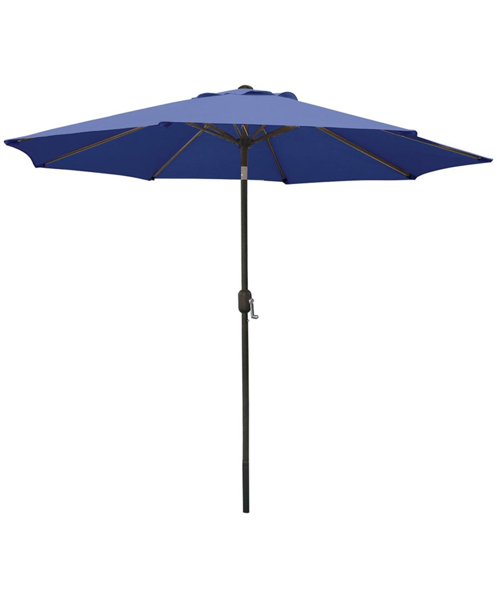 Seasonal Trends 9 ft. Market Crank Umbrella, Blue