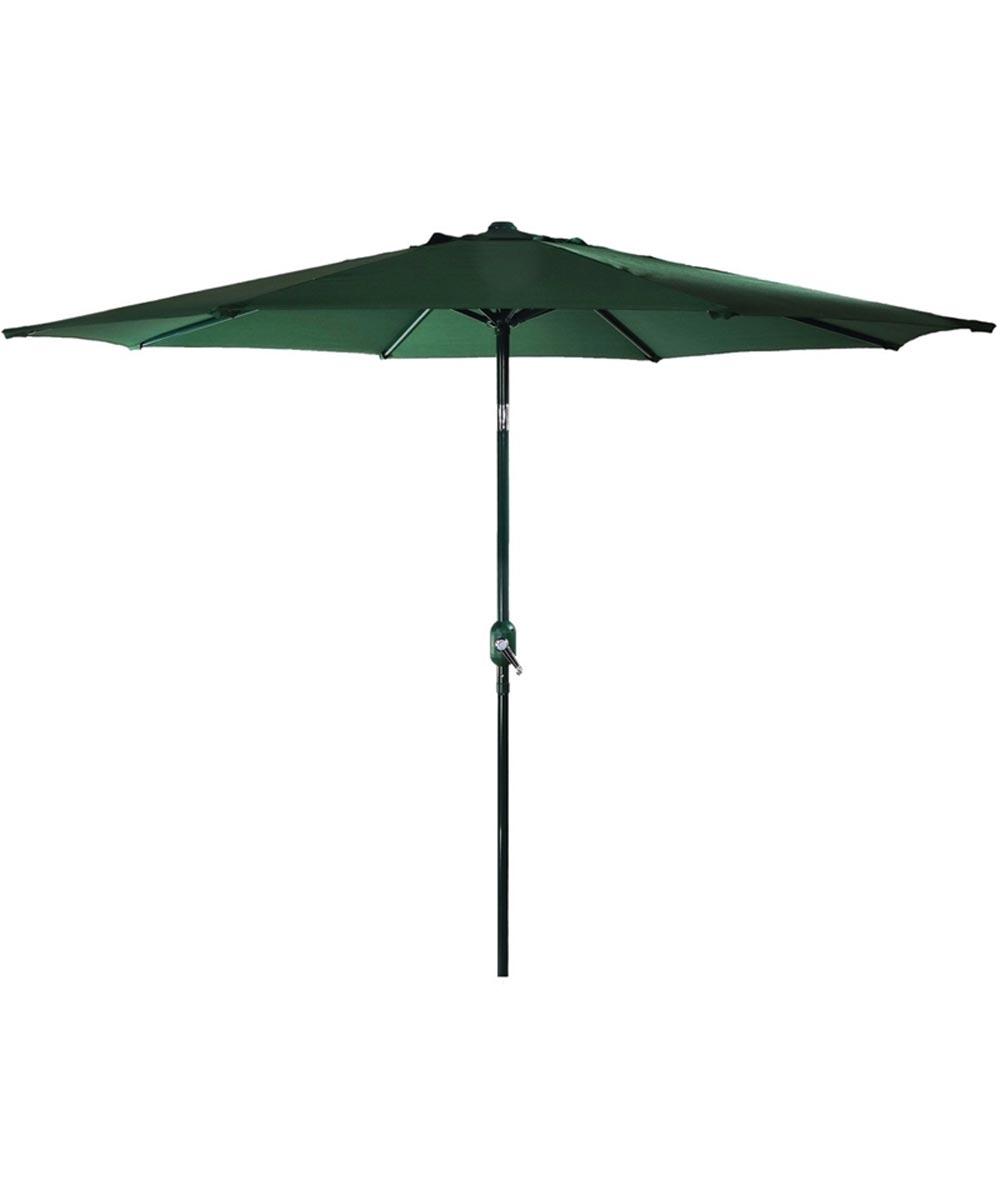 Seasonal Trends 9 ft. Hand Crank Patio Umbrella, Hunter Green