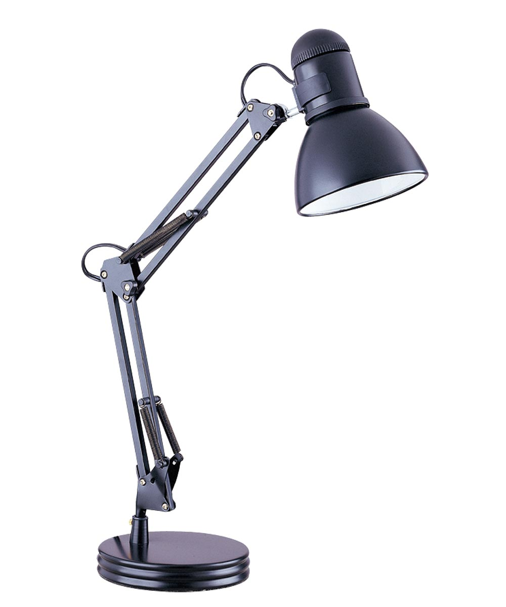 Boston Harbor Swing Arm Adjustable Desk Lamp, 60 W, A19, Black