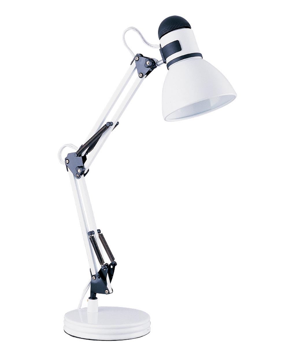 Boston Harbor Swing Arm Adjustable Desk Lamp, 60 W, A19, White