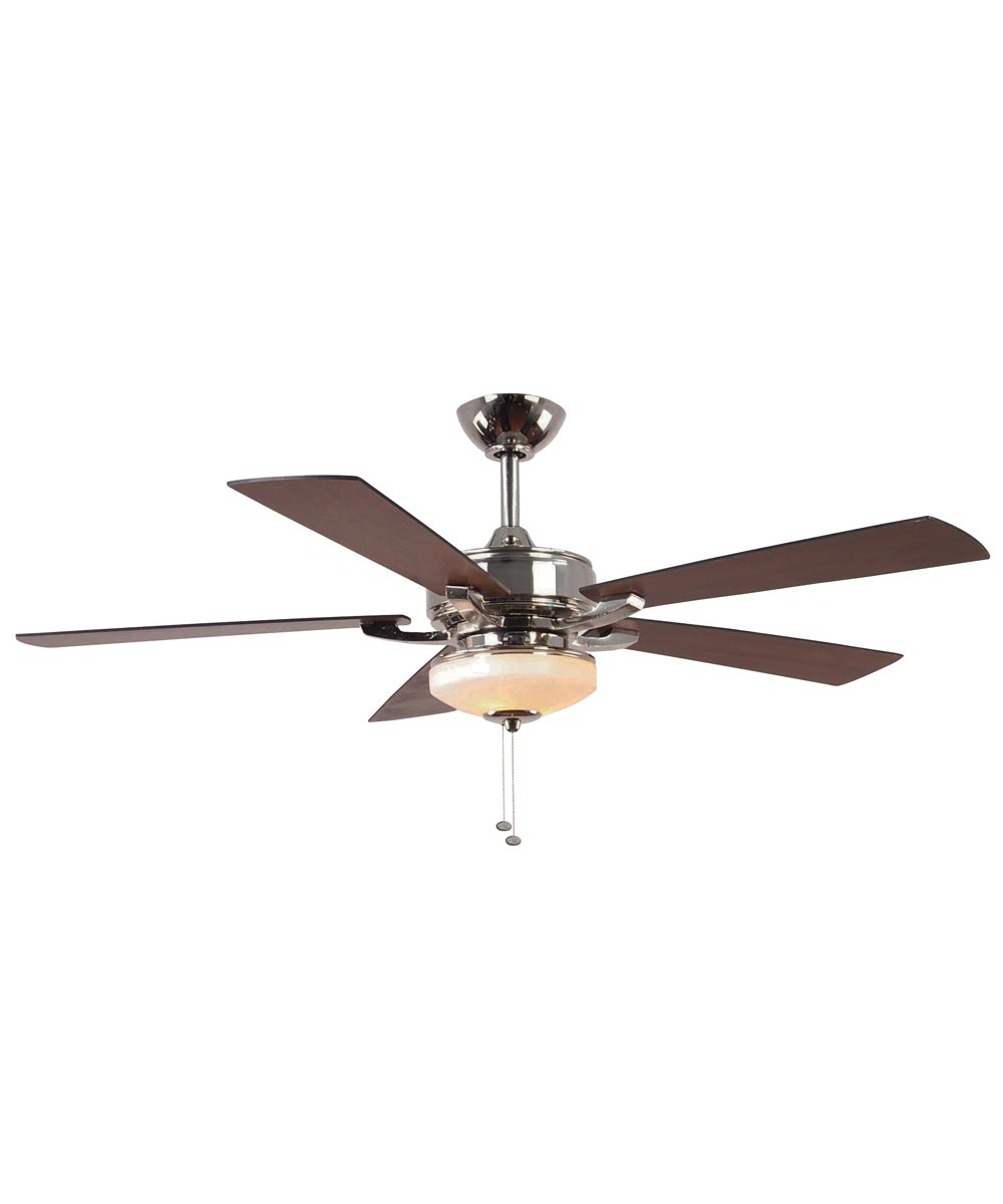 Litex 52 in. Margaux 5 Blade Ceiling Fan with Light, Polished Nickel