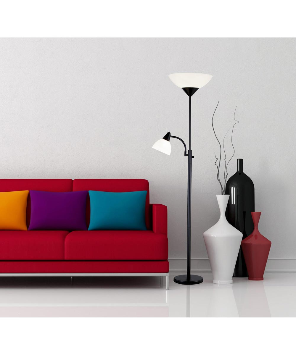 Adesso Piedmont 300W Combo Torchiere Floor Lamp