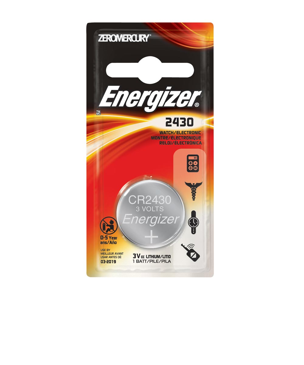 Energizer 2430 Watch/Electronic Battery, 1 Pack