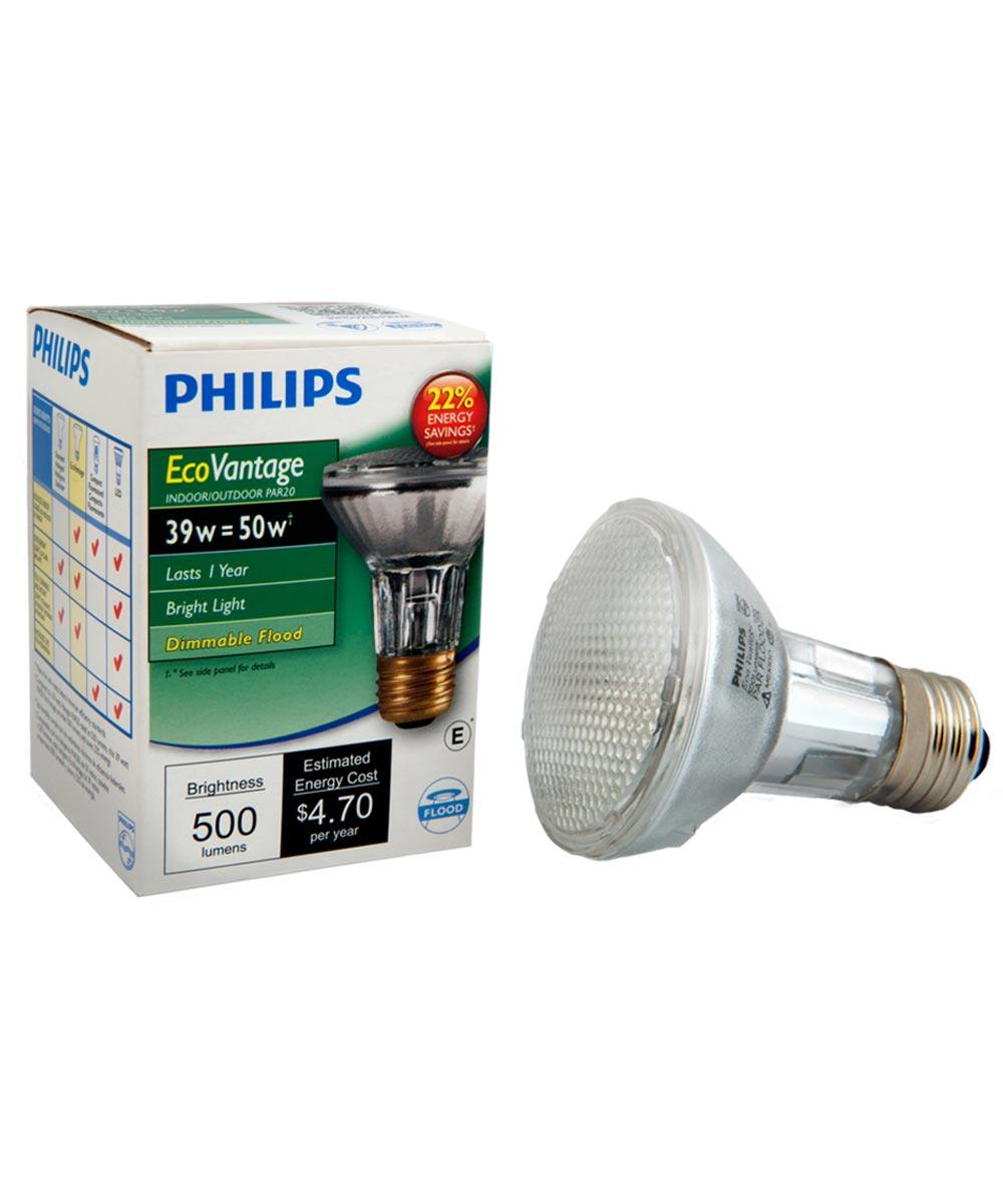 39 Watt Soft White PAR20 Flood Halogen Light Bulb