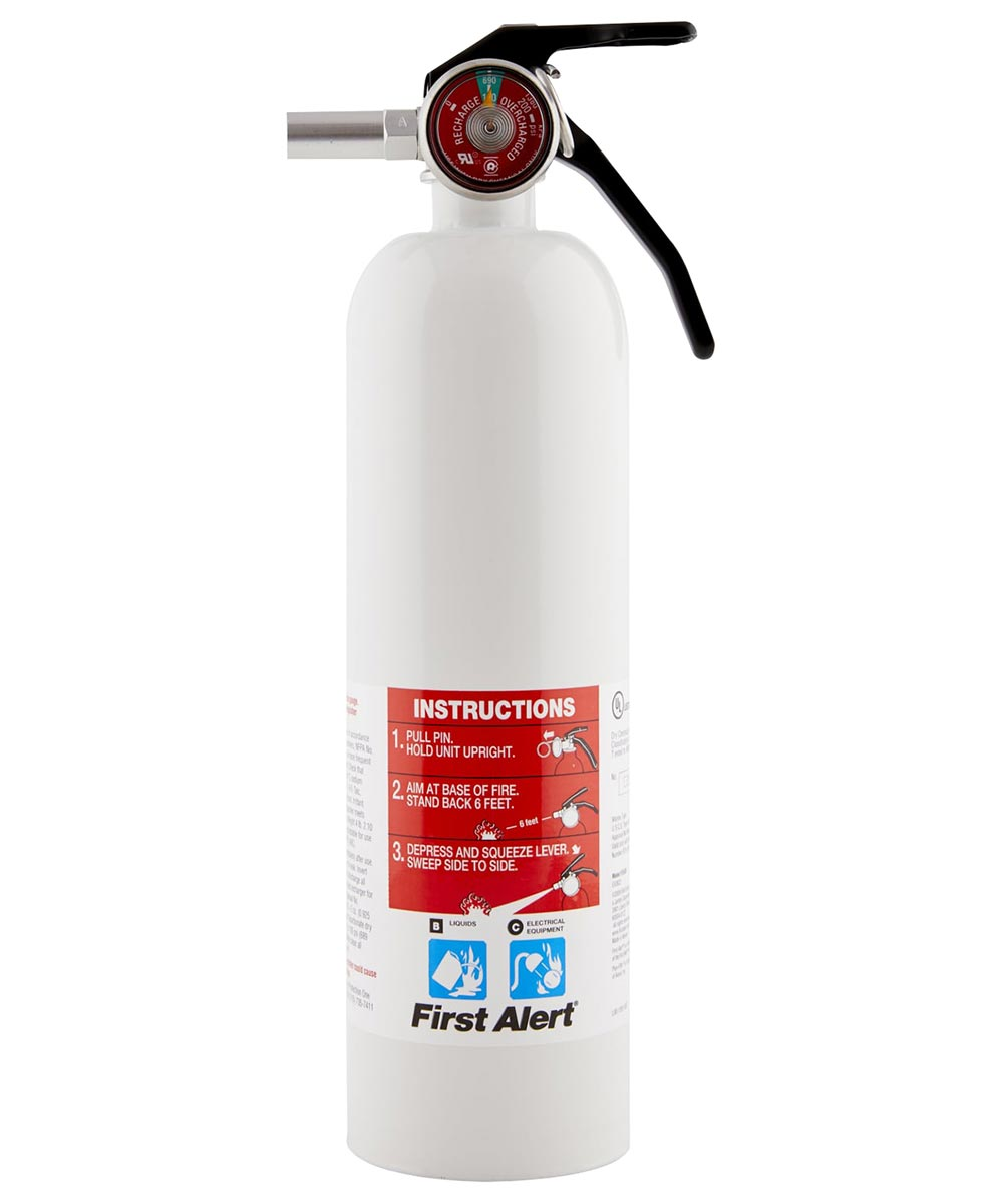 White Rechargeable Recreational Fire Extinguisher