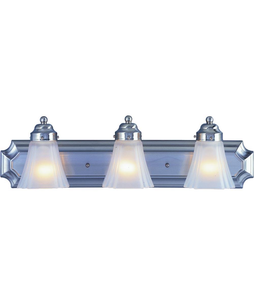 Boston Harbor 3-Light Vanity Fixture, Brushed Nickel