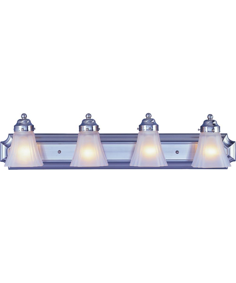 Boston Harbor 4-Light Dimmable Vanity Light Fixture, Brushed Nickel