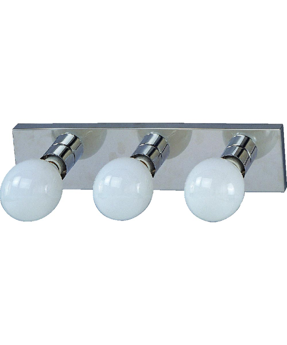 Dimmable Vanity Light Fixture 3 100 W Medium Type G Lamp Chrome