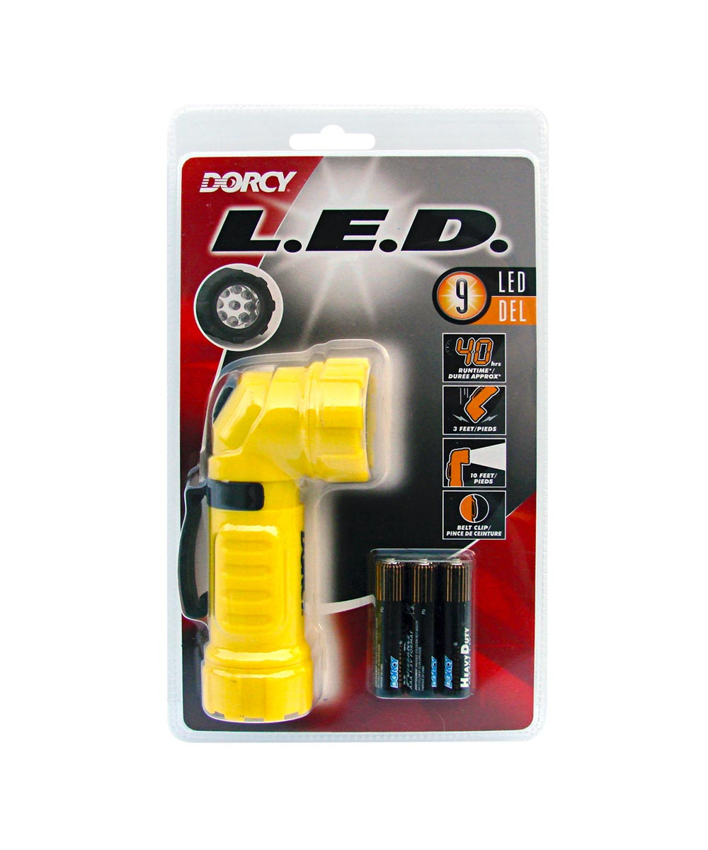 Dorcy Weather Resistant Angle Head LED Flashlight, 3AAA