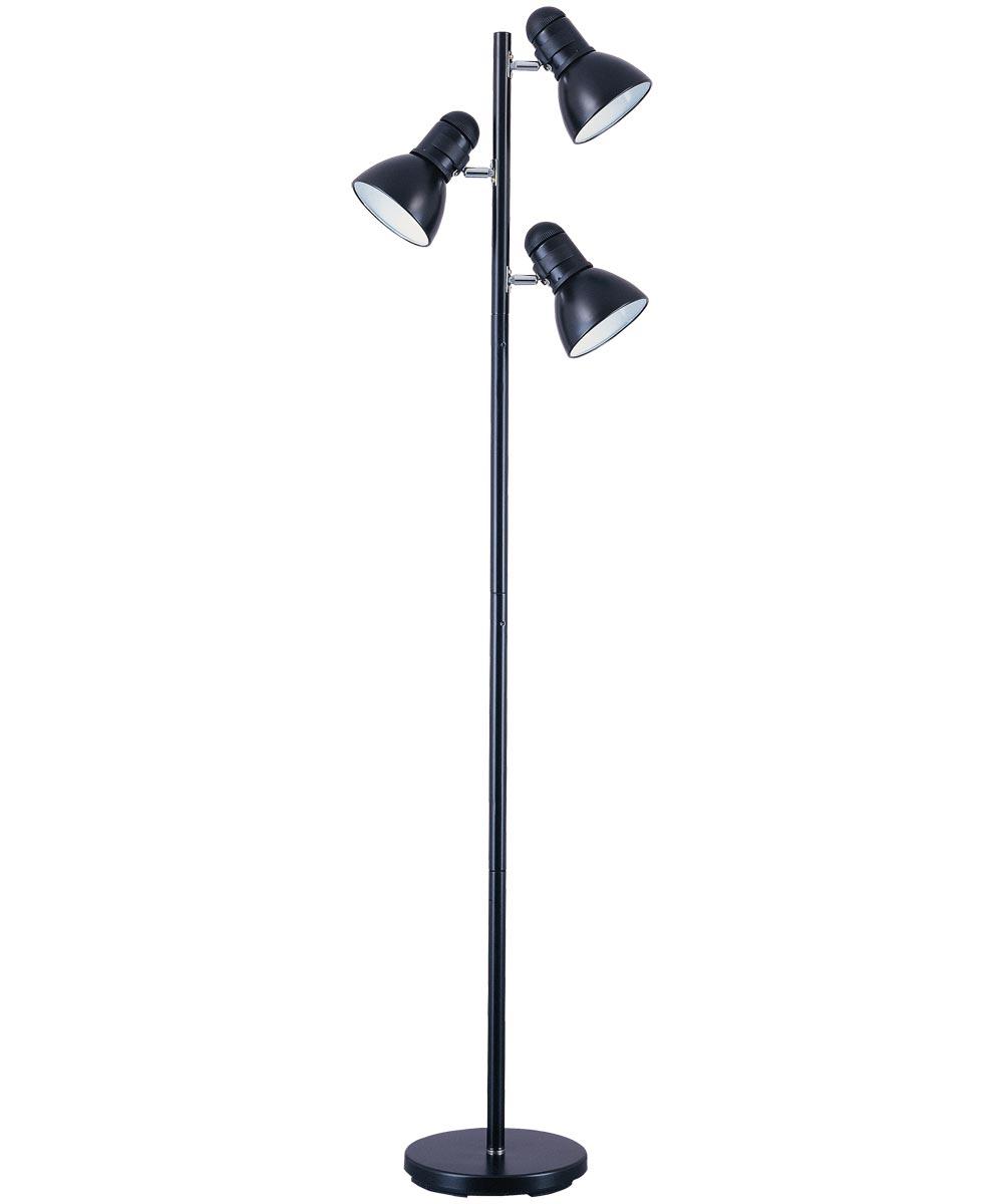 Boston Harbor 3-Light Tree Floor Lamp, Black