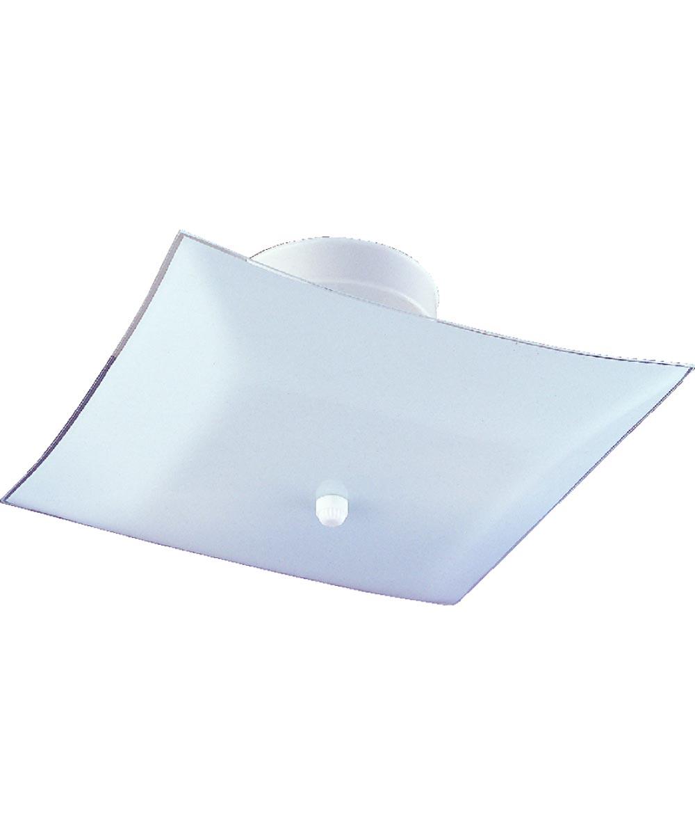 Boston Harbor 2-Light Dimmable Ceiling Light Fixture, White