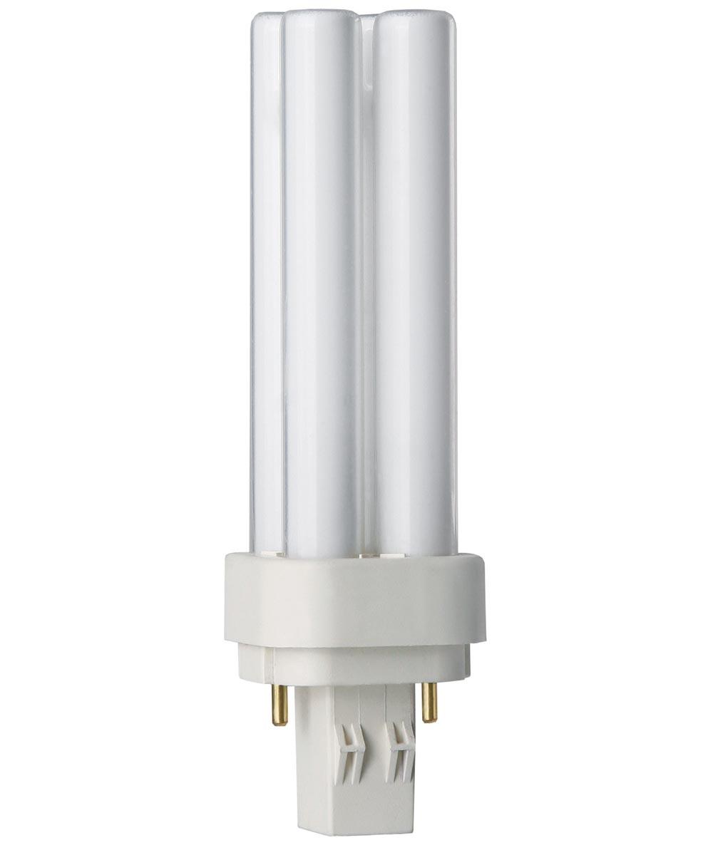 13 Watt PL-C Soft White Compact Fluorescent Light Bulb 2 Pin