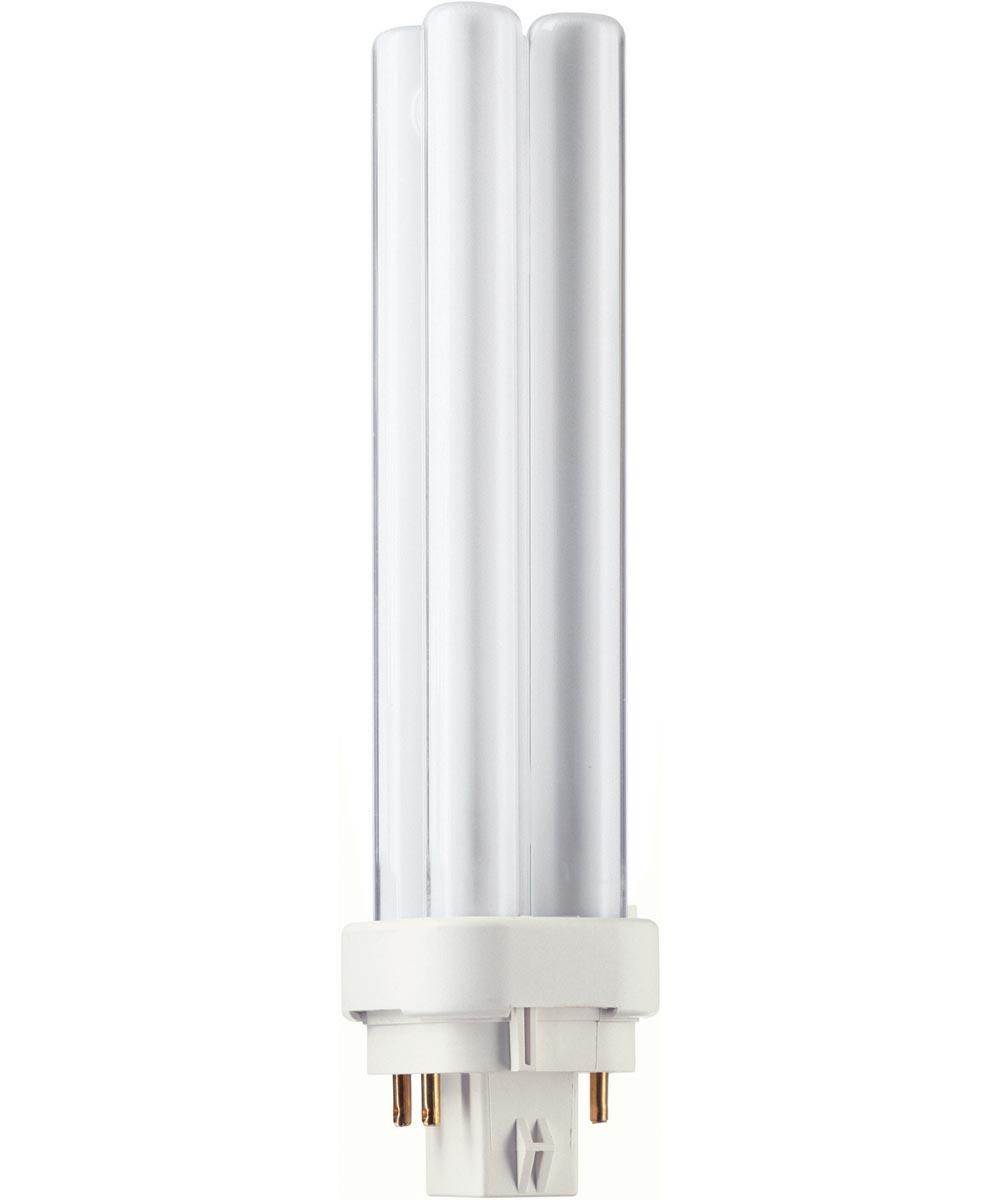 13 Watt PL-C Soft White Compact Fluorescent Light Bulb 4 Pin