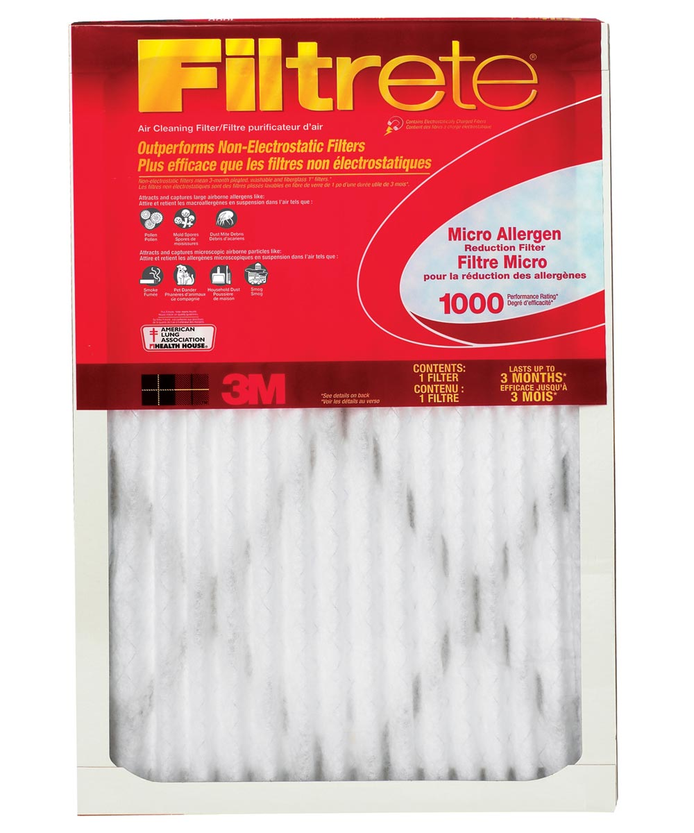 16 in. x 24 in. x 1 in. Micro Allergen Reduction Air Conditioner Filter