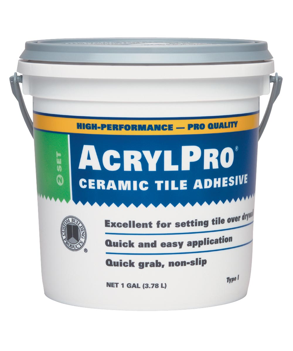 Acrylpro ARL40001 Type 1 All Purpose Adhesive, 1Gal, Pail, White, Paste Liquid