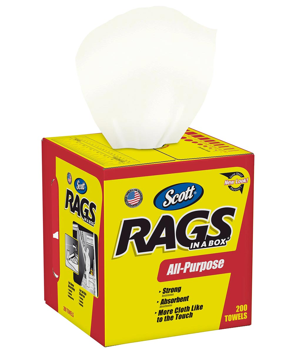 Scott Rags In-A-Box, 200 Count