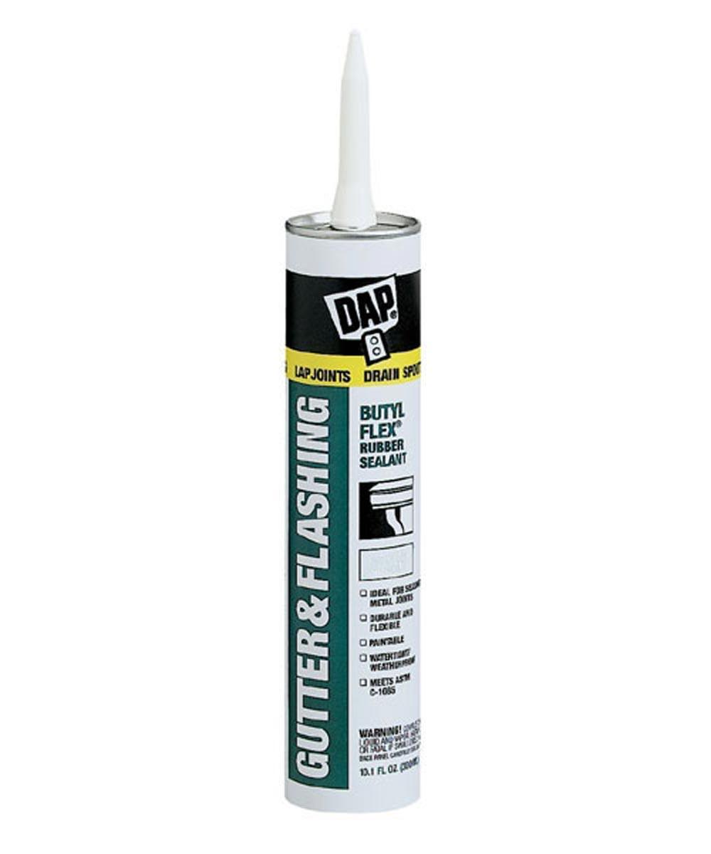 Gray Gutter & Flashing Butyl Flex Rubber Sealant, 10.1 oz.