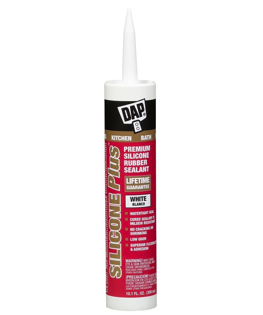White Silicone Plus Silicone Kitchen & Bath Rubber Sealant, 10.1 oz.