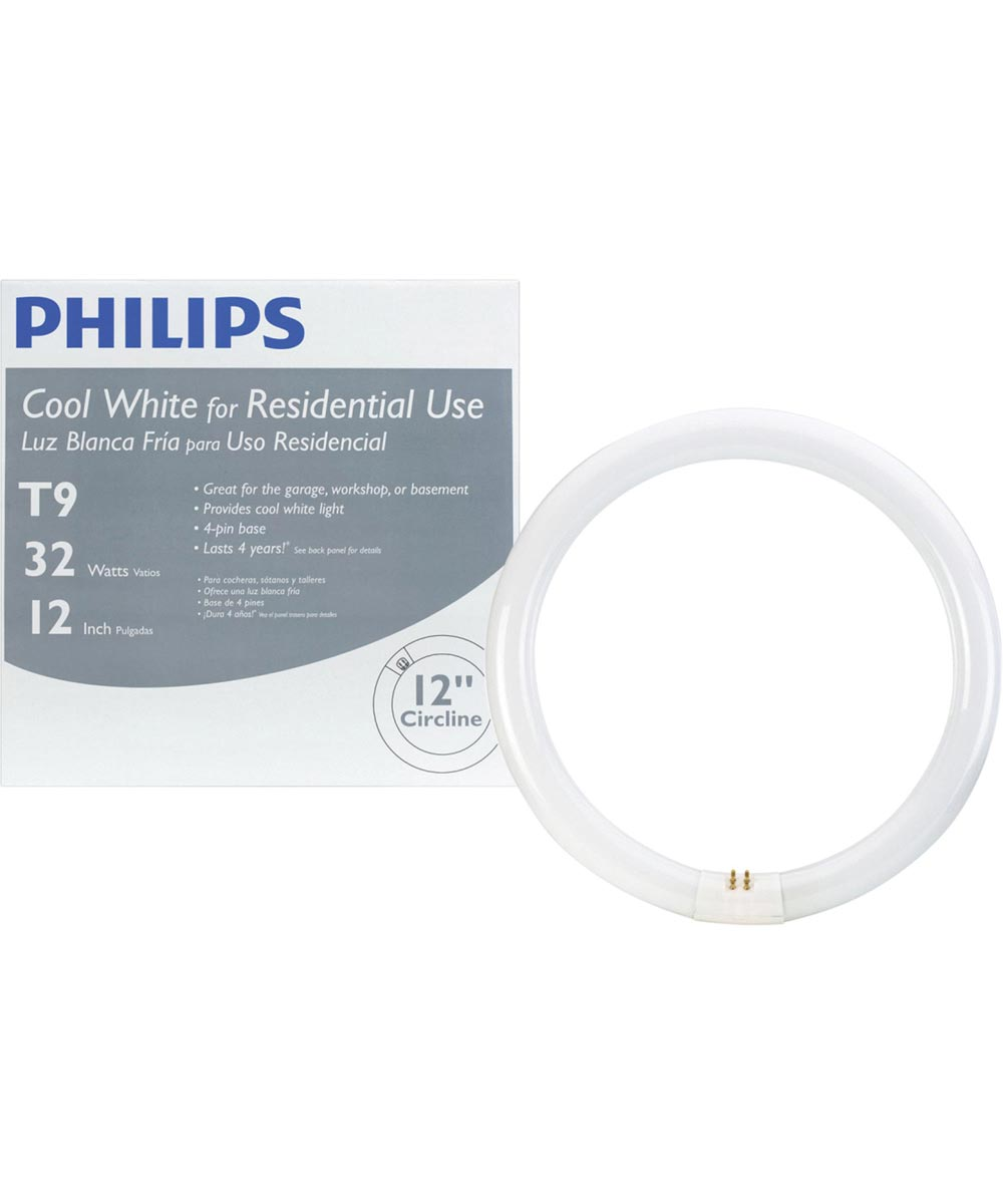 12 inch 32-Watt T9 Cool White Circline Fluorescent Light Bulb
