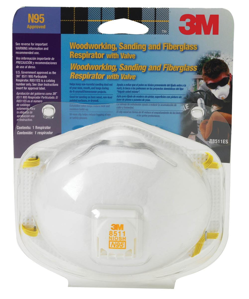 3m 8511 particulate respirator / dust mask n95 with cool flow valve