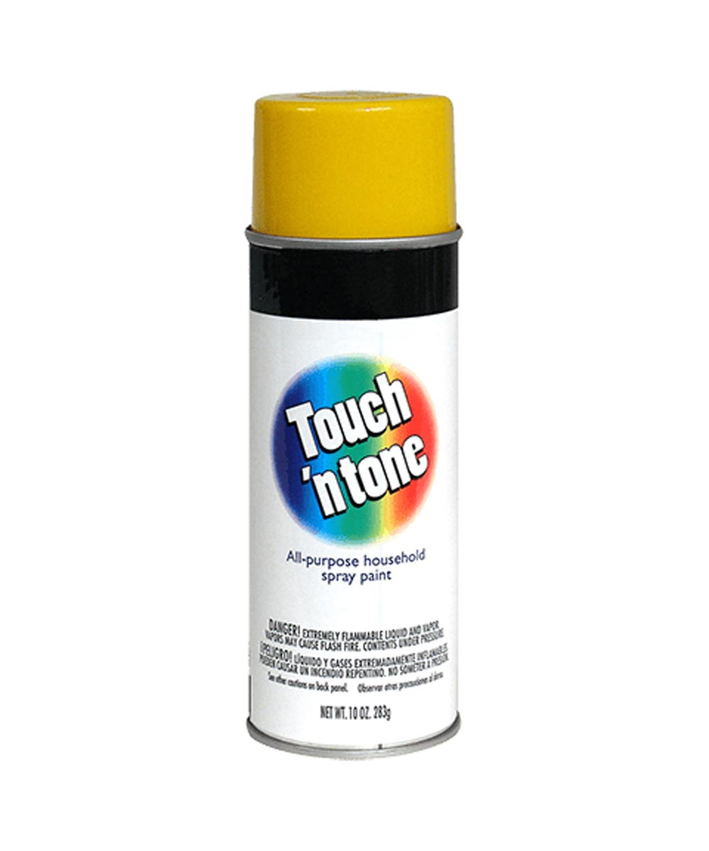 Touch N Tone General Purpose Spray Paint, 10 oz., Canary Yellow