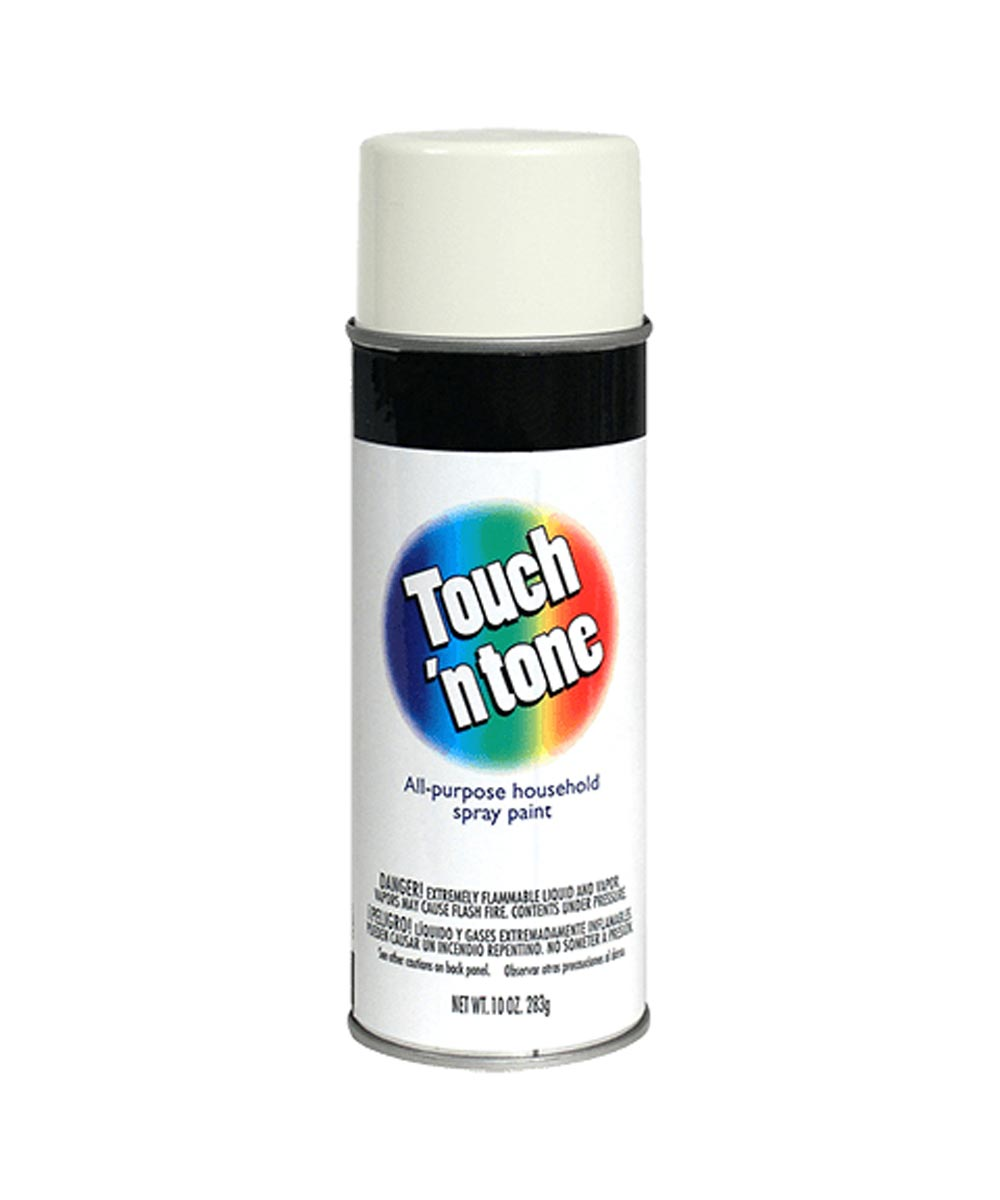 Touch N Tone General Purpose Spray Paint, 10 oz., Gloss White