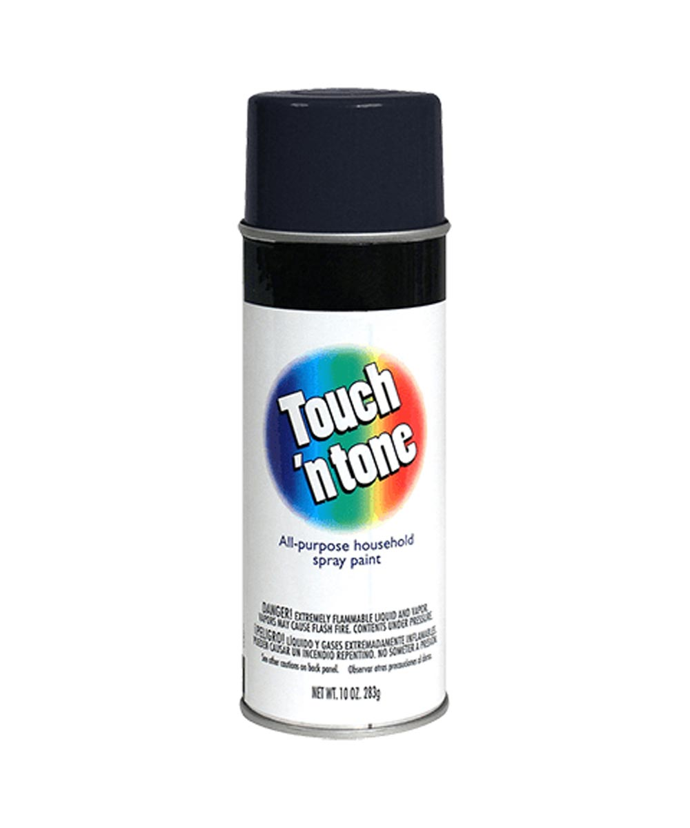 Touch N Tone General Purpose Spray Paint, 10 oz., Flat Black