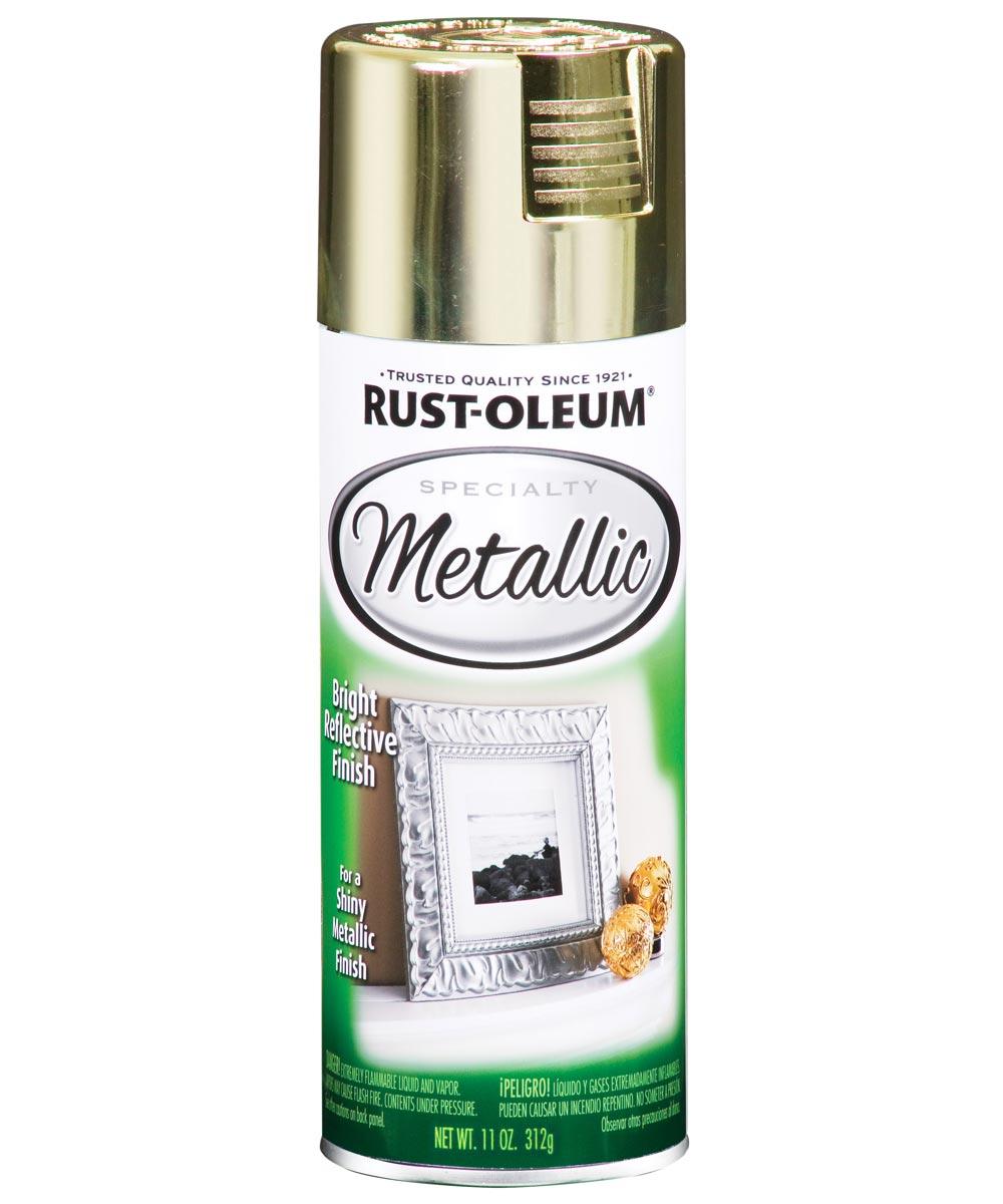 Specialty Metallic Spray, 11 oz Spray Paint, Brass
