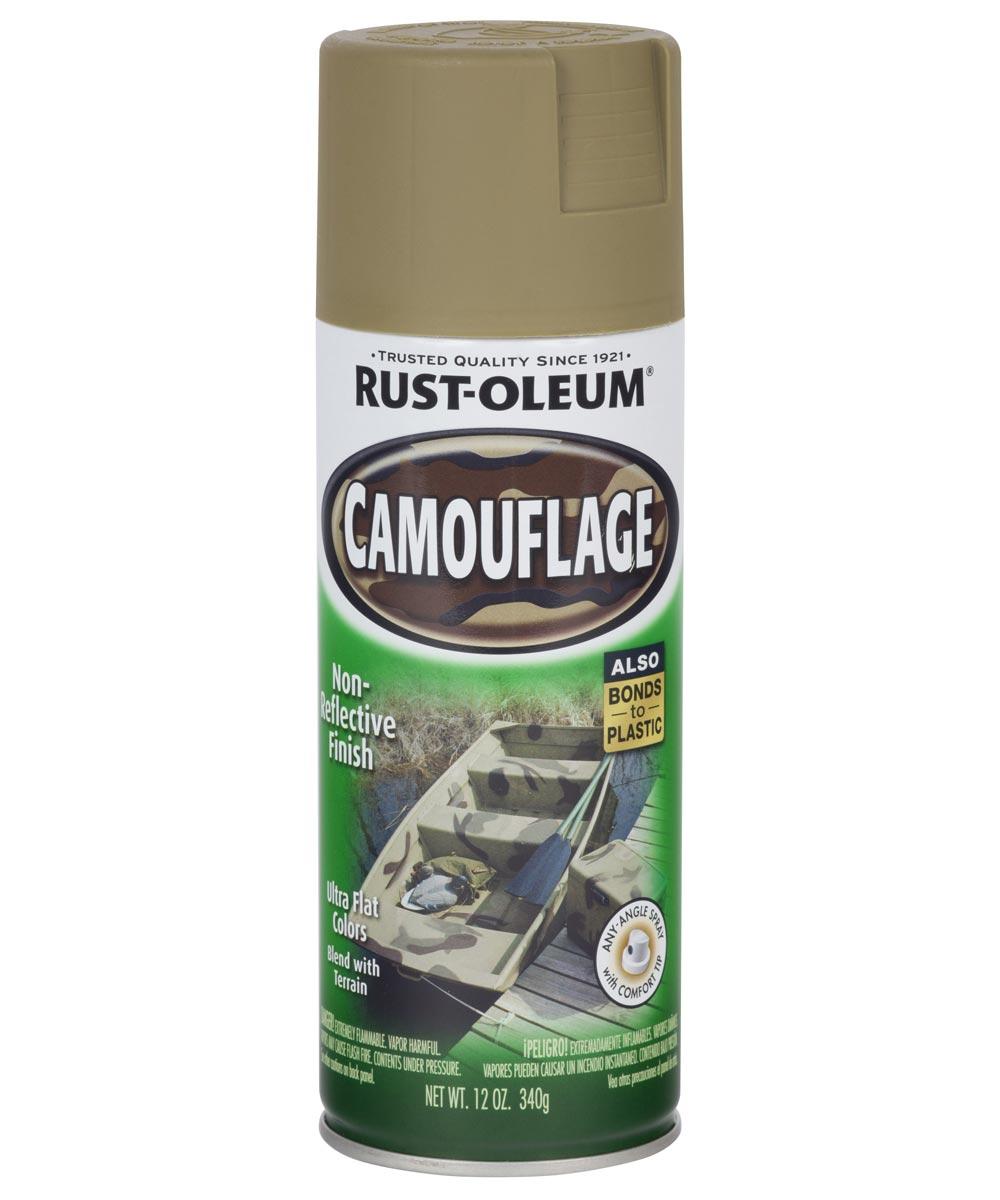 Specialty Camouflage Spray, 12 oz Spray Paint, Khaki