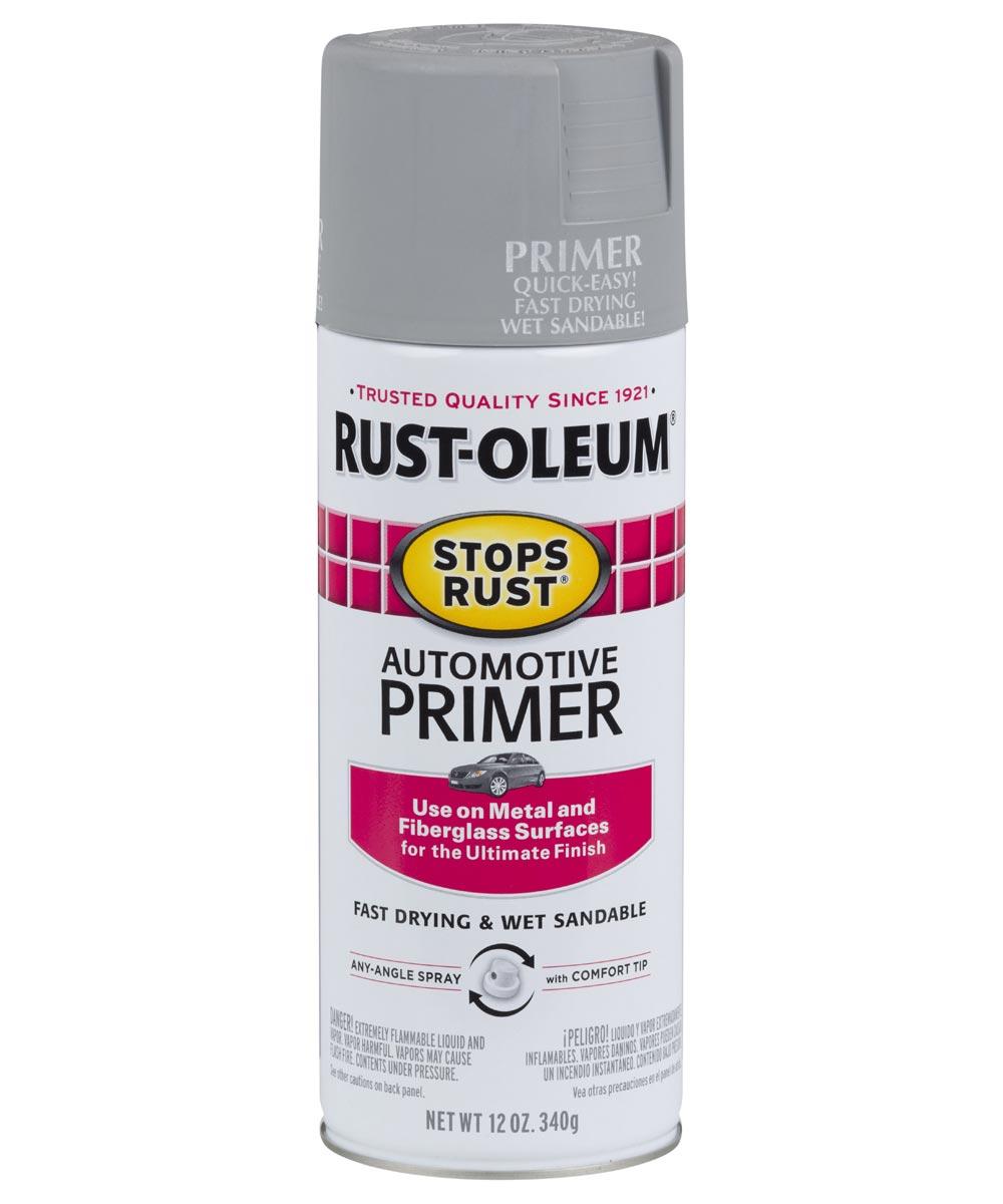 Stops Rust Automotive Primer Spray, 12 oz Spray Paint, Light Gray