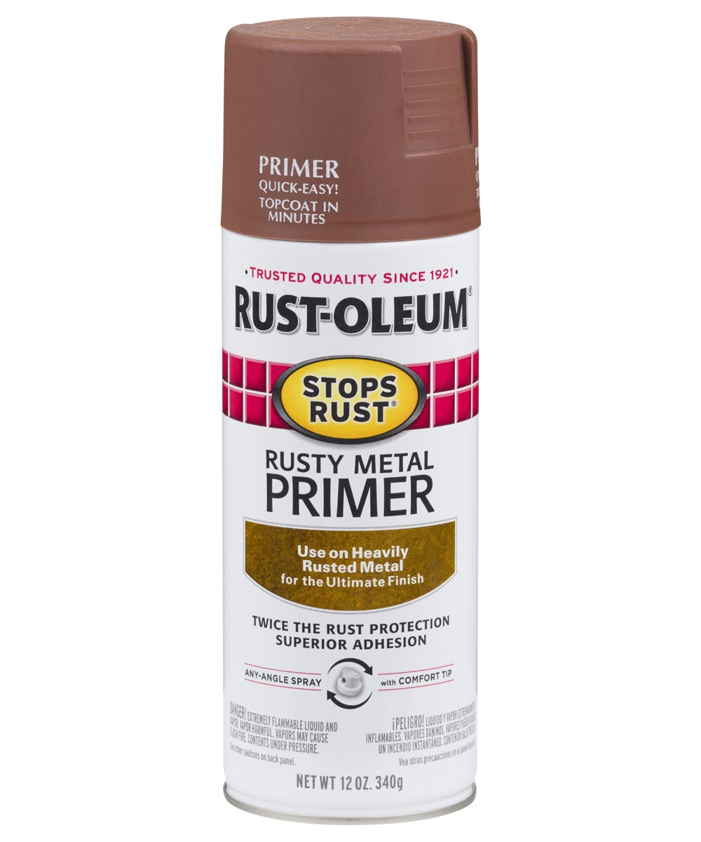 Stops Rust Rusty Metal Primer Spray, 12 oz Spray Paint, Rusty Metal Primer