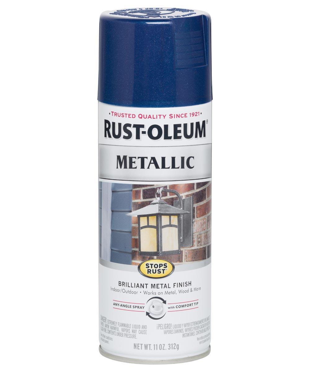 Stops Rust Metallic, 11 oz Spray Paint, Cobalt Blue