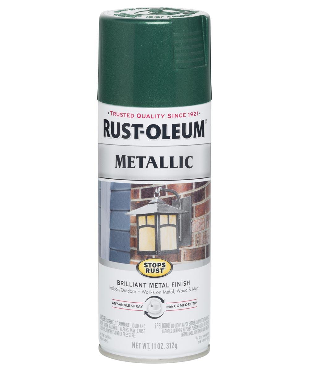 Stops Rust Metallic, 11 oz Spray Paint, Racing Green