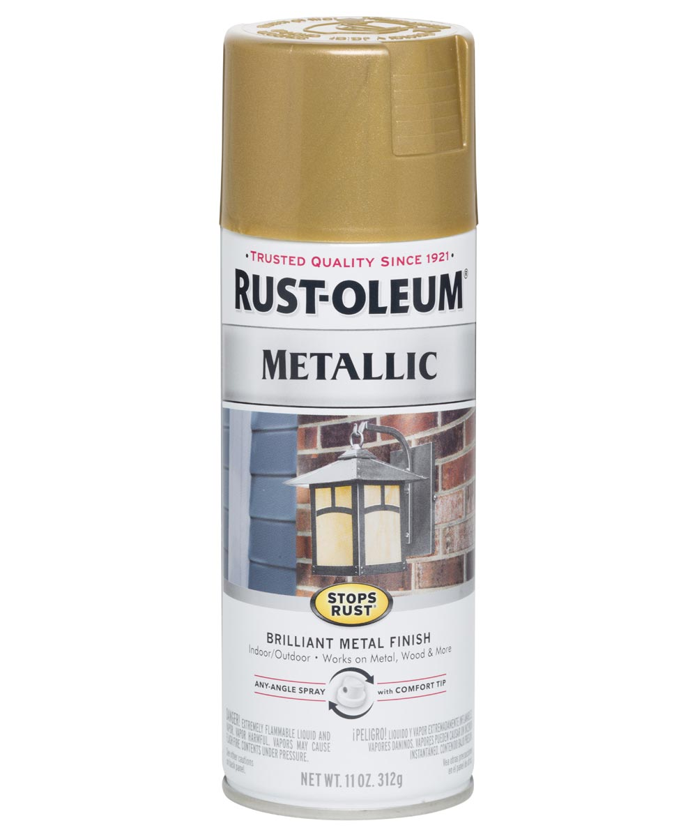 Stops Rust Metallic, 11 oz Spray Paint, Gold Rush
