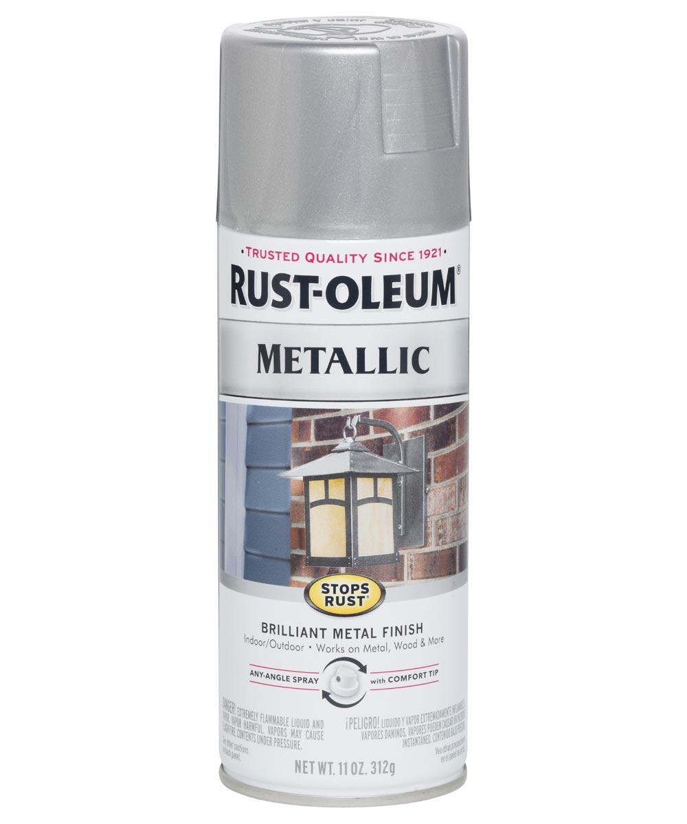 Stops Rust Metallic, 11 oz Spray Paint, Silver Metallic