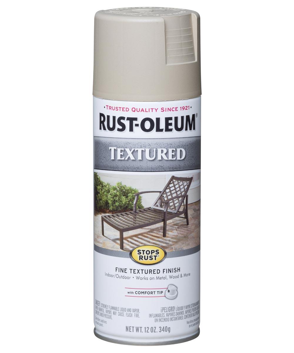 Stops Rust Textured Spray, 12 oz Spray Paint, Sandstone Textured