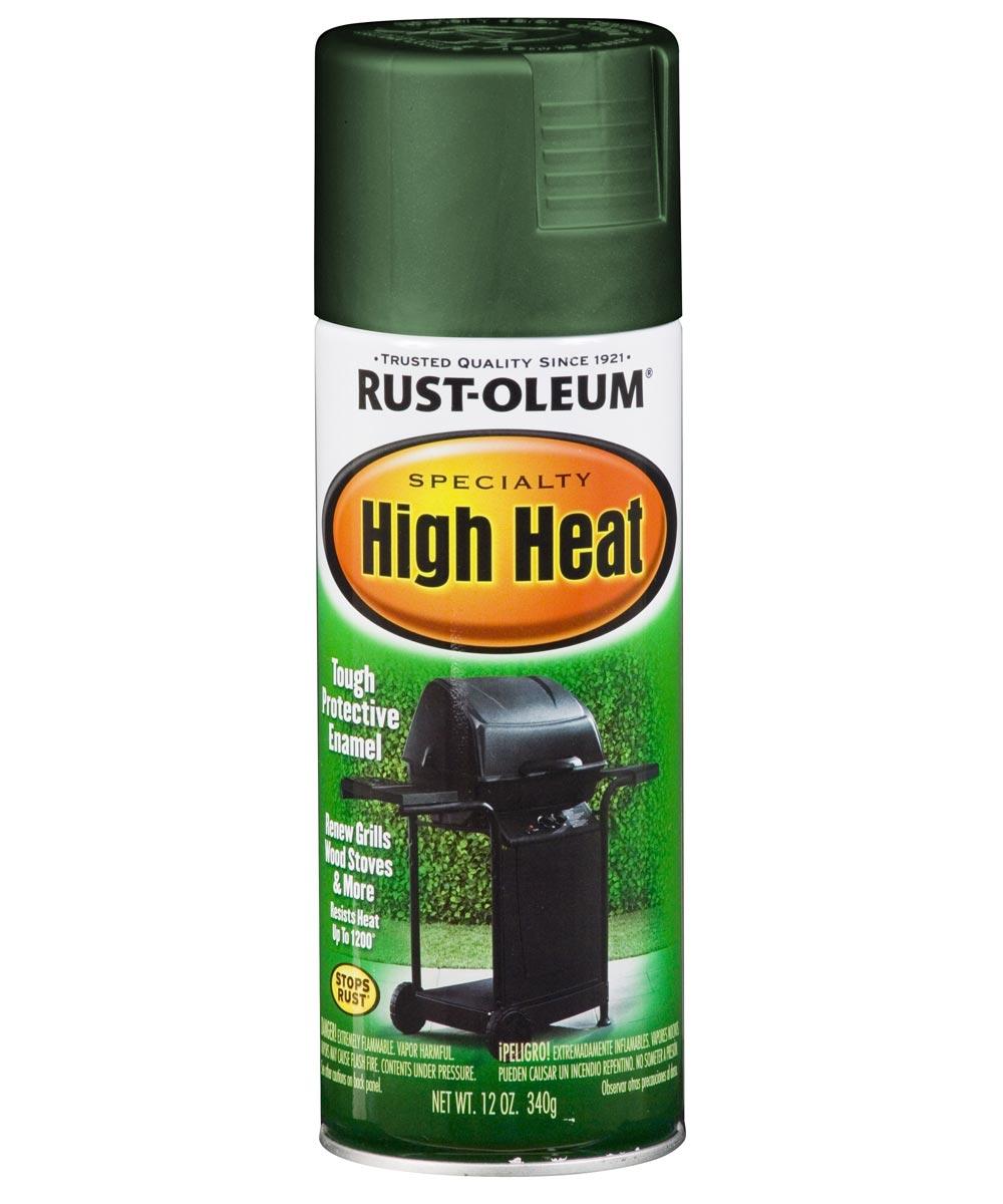 Specialty High Heat Spray, 12 oz Spray Paint, Green