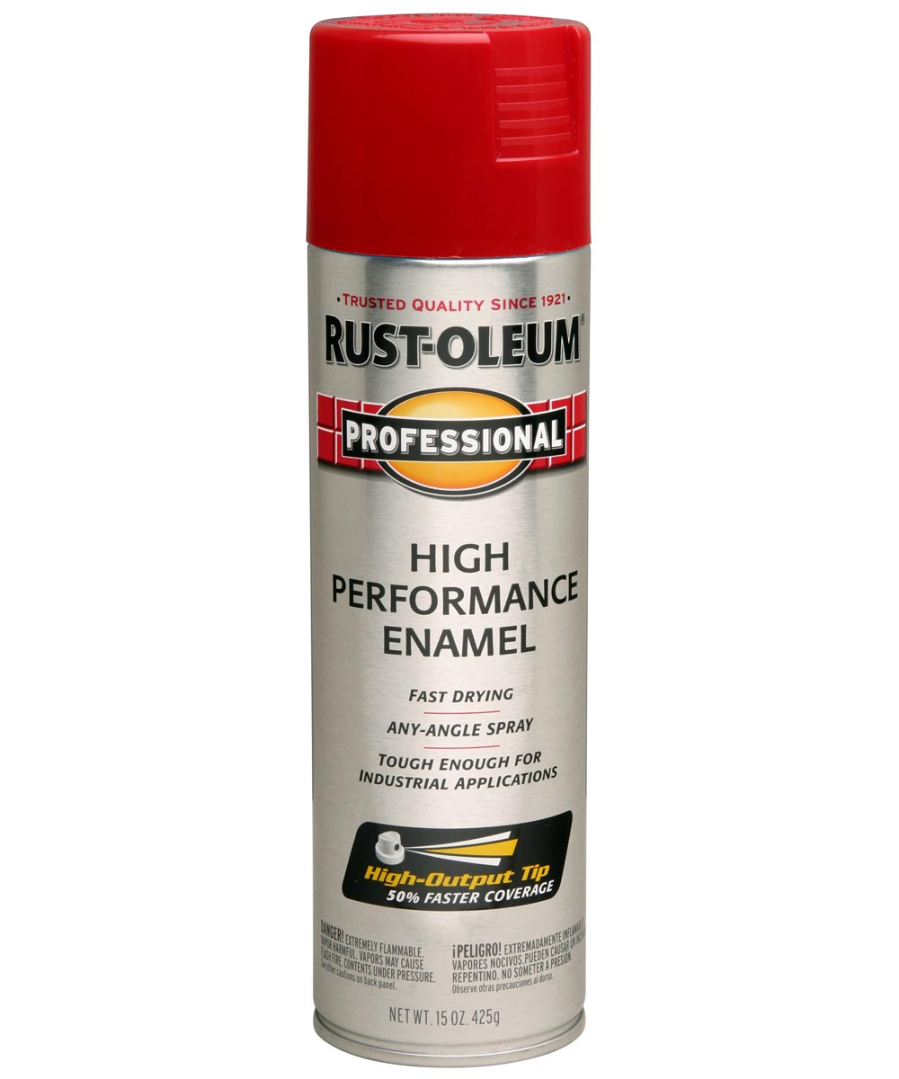 Professional High Performance Enamel Spray Paint, 15 oz., Safety Red