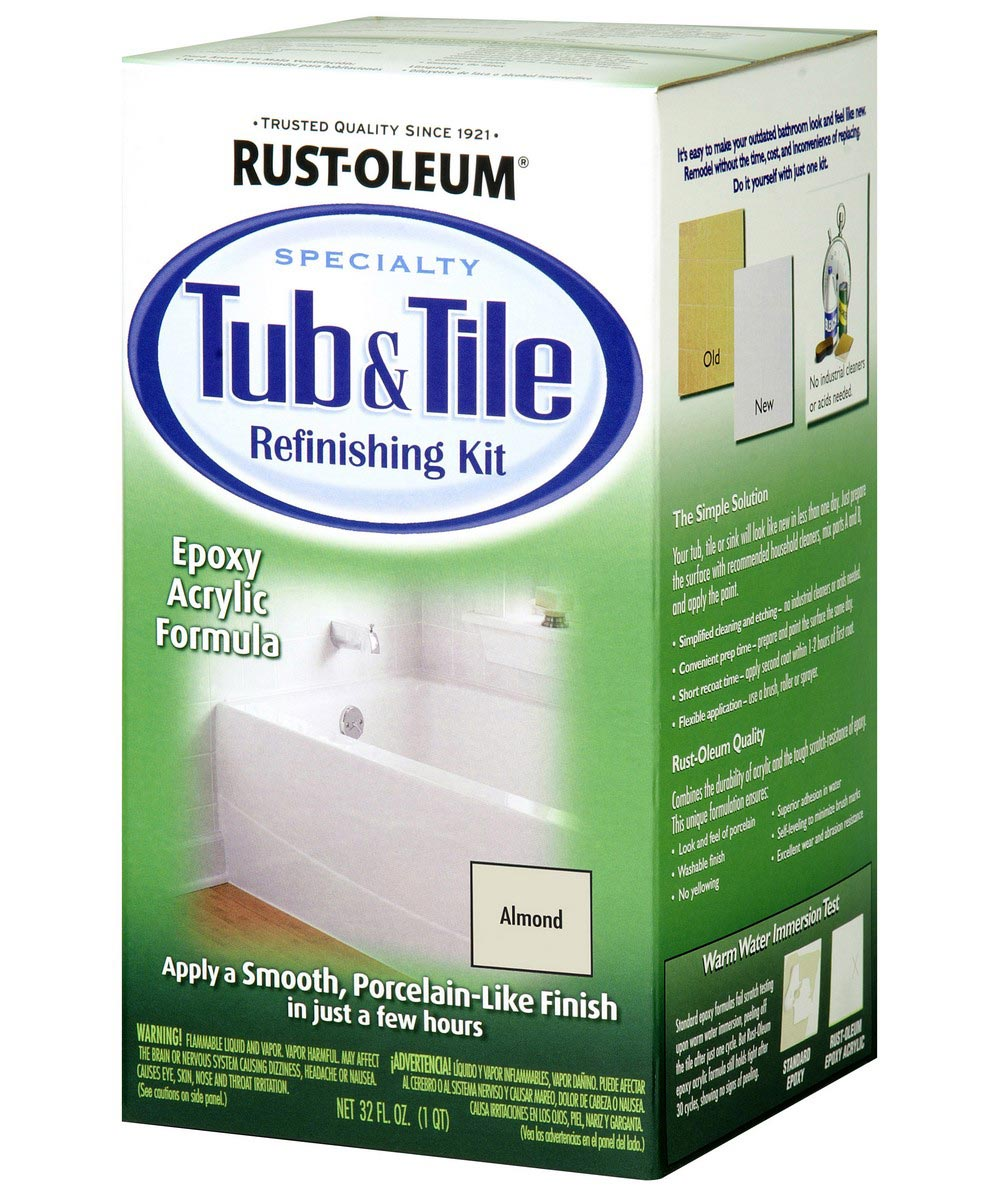Specialty Tub & Tile Refinishing Kit, Kit, Almond